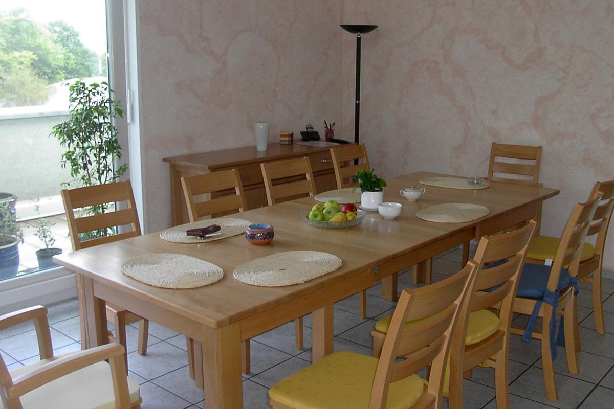 Platz für gemeinsame Mahlzeiten
