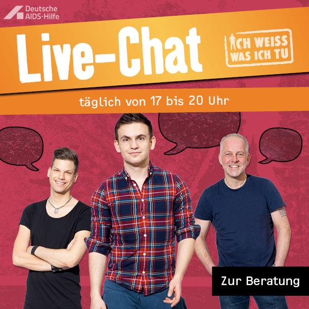 Live Beratung für schwule Jungs & Männer, täglich 17-20 Uhr